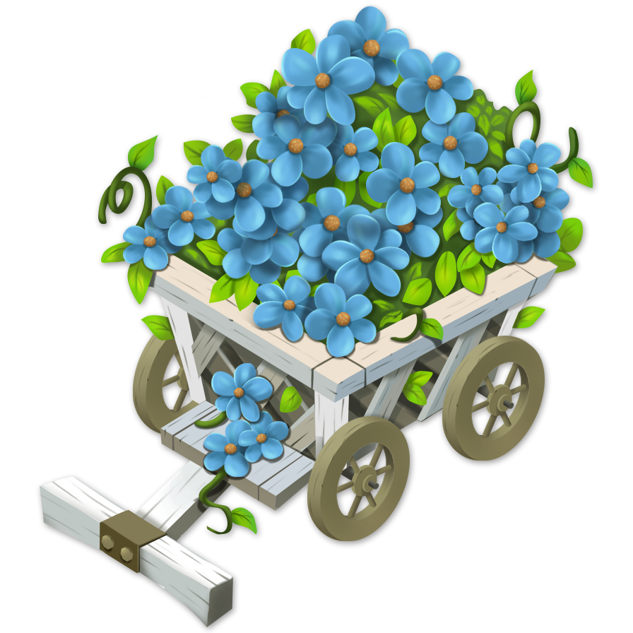 Hay clipart hay cart. Image flower wagon png