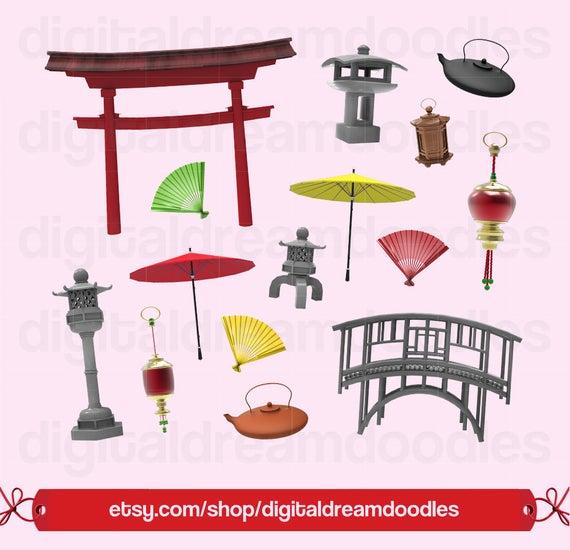 Japanese japan clip art. Gate clipart garden shop