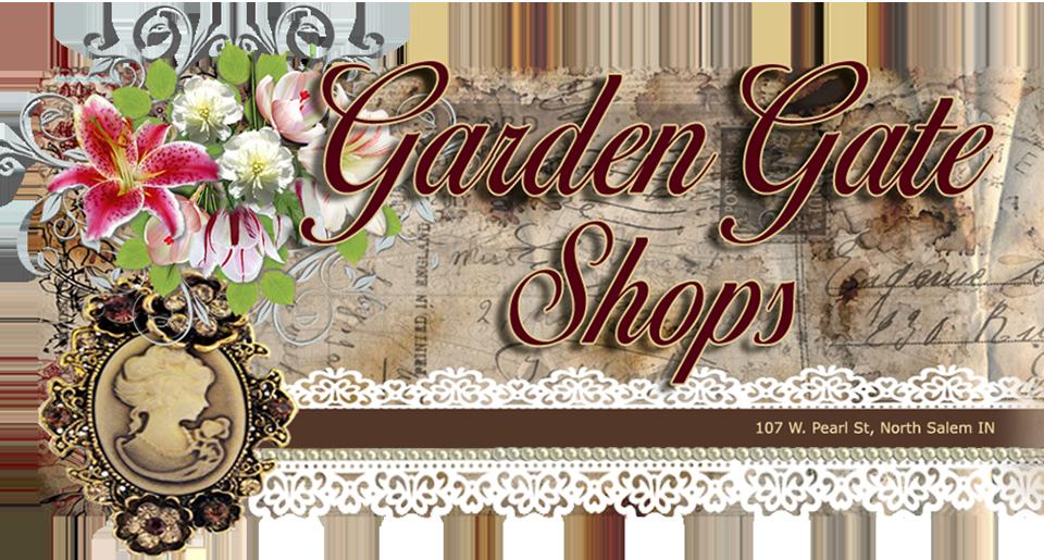 Shops vintage boutique gift. Gate clipart garden shop