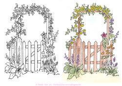Gate clipart garden tour. Clip art library