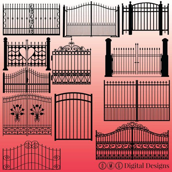 Gate clipart gate design.  silhouette images by