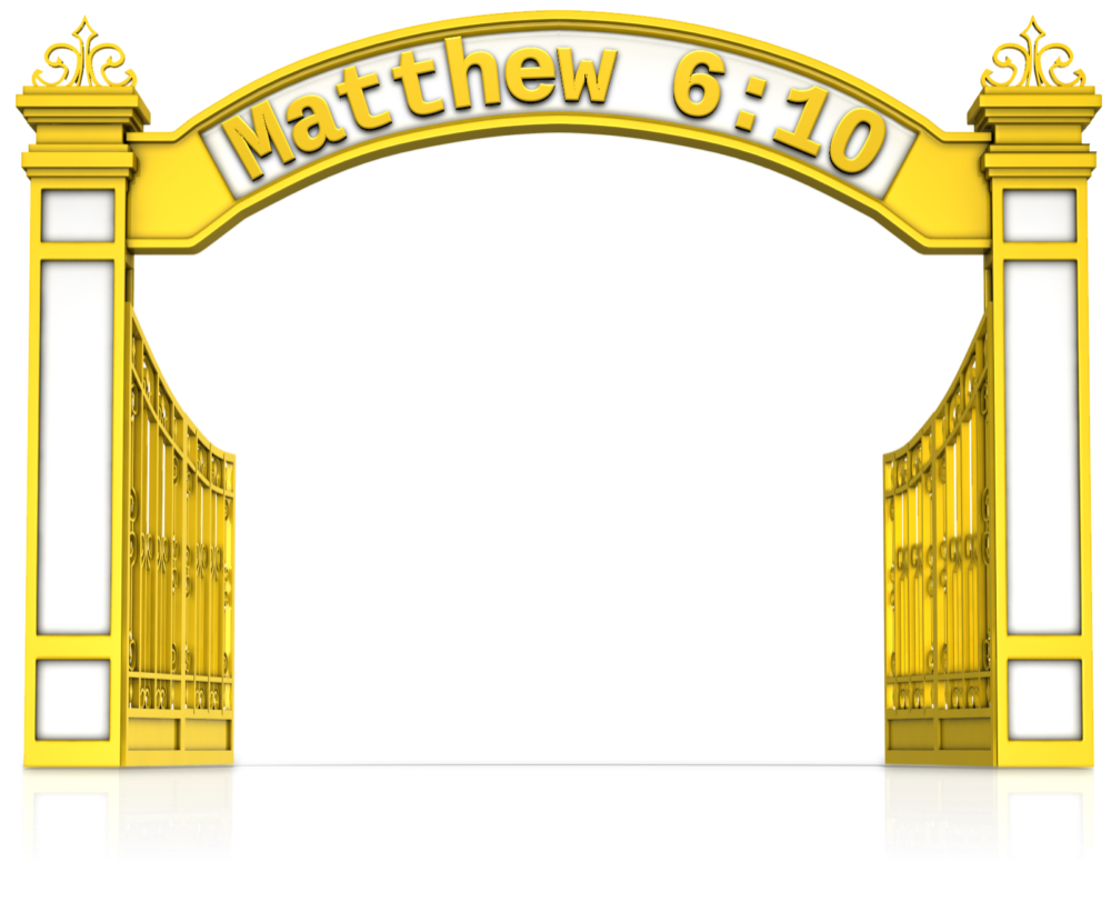 Founder thy will be. Gate clipart god's kingdom
