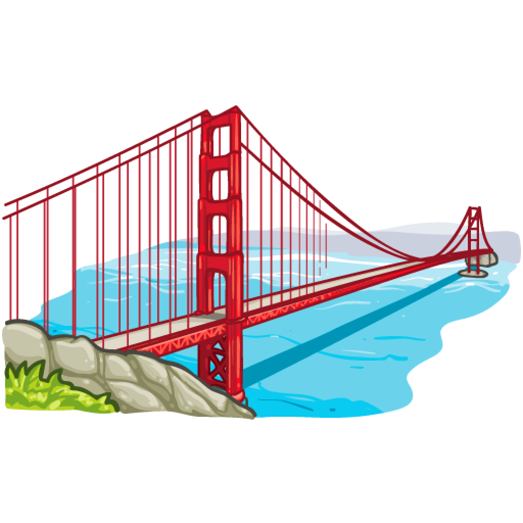 Gate clipart gold gate. Golden bridge free download
