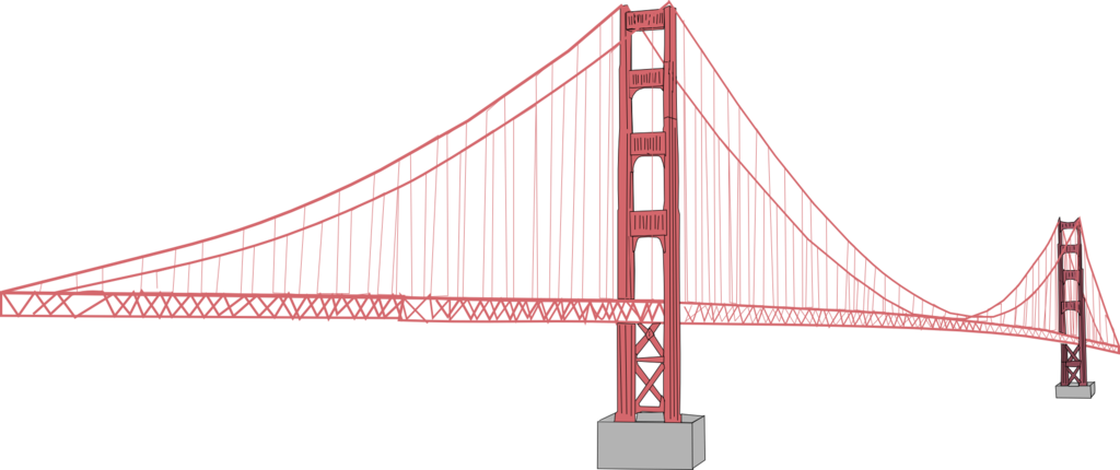 Golden bridge clip art. Gate clipart gold gate
