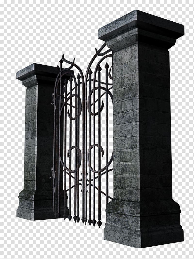 Fence iron transparent background. Gate clipart gothic