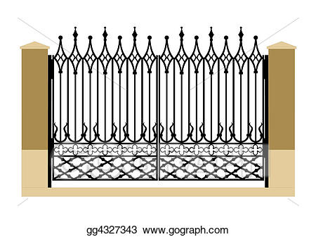 Gate clipart gothic. Clip art forged iron