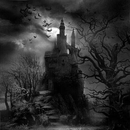Gate clipart gothic horror. Welcome halloween in dark