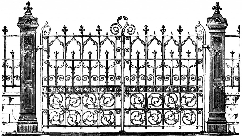 Dark corners of role. Gate clipart gothic horror