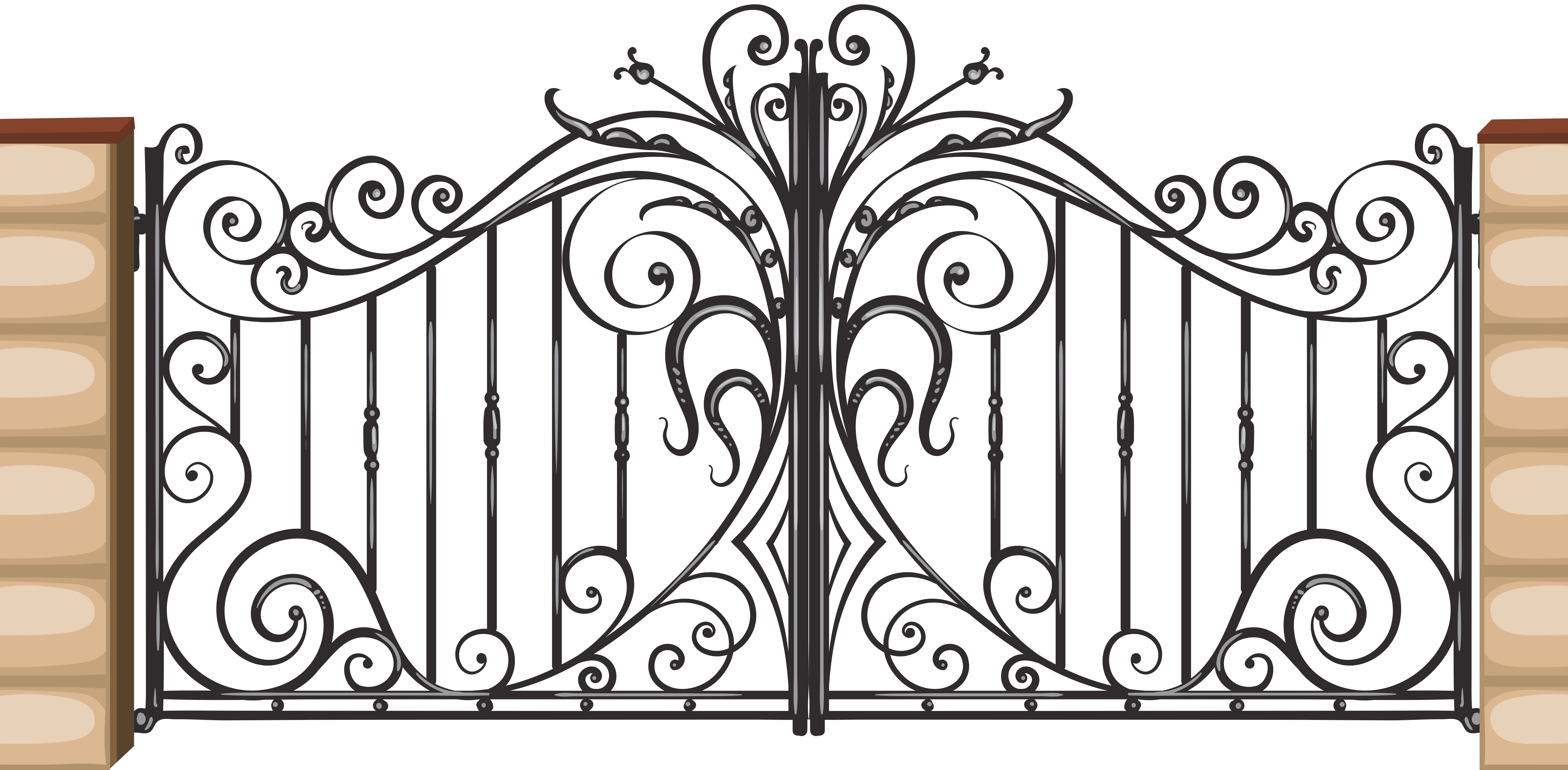 Pin by mike on. Gate clipart grill gate