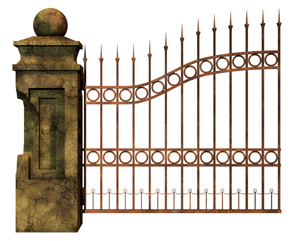 Gate clipart grill gate. Graveyard left png stock