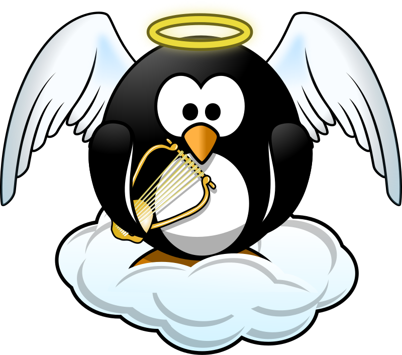 Collection of penguin in. Heaven clipart pearly gates