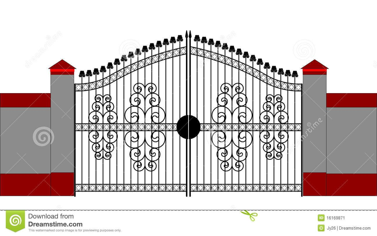 Clip art furniture and. Gate clipart house gate