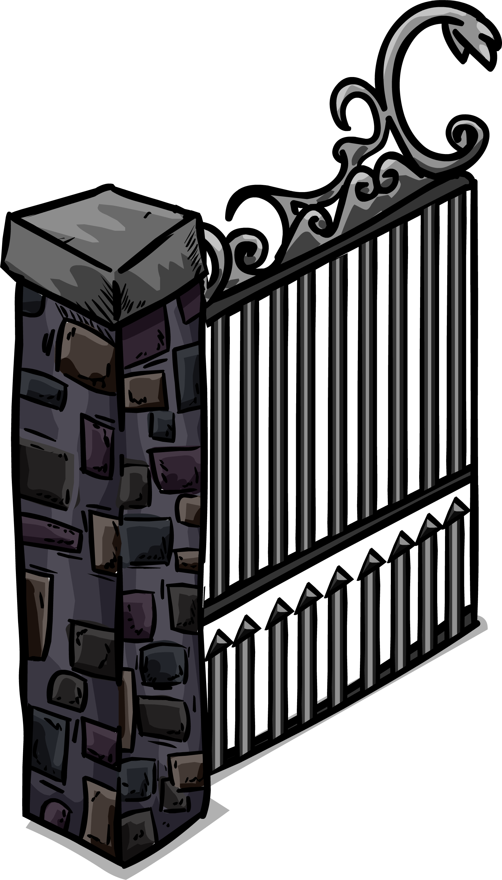 Image sprite png club. Gate clipart iron gate