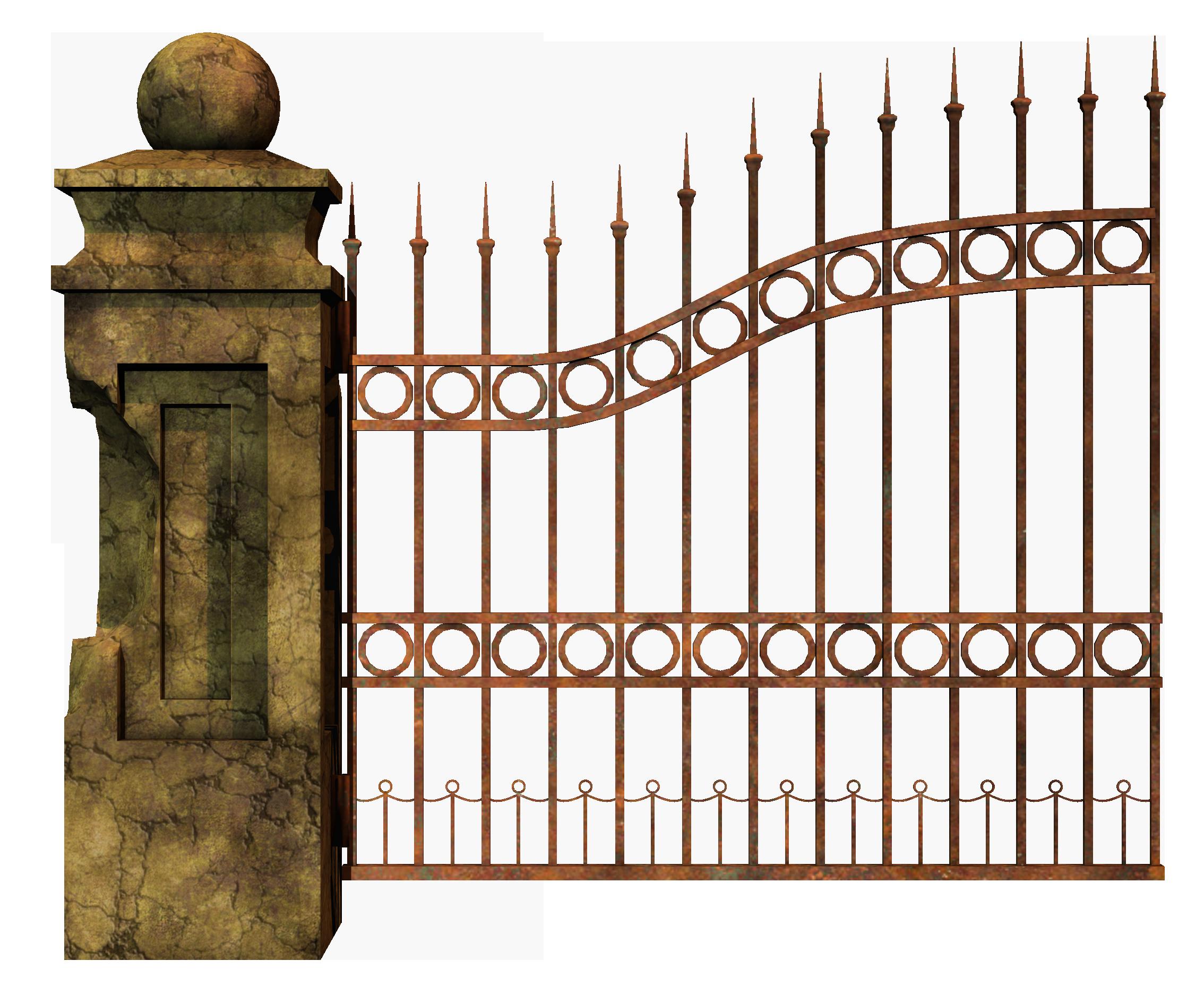 Gate clipart iron gate. Cemetery fence clip art