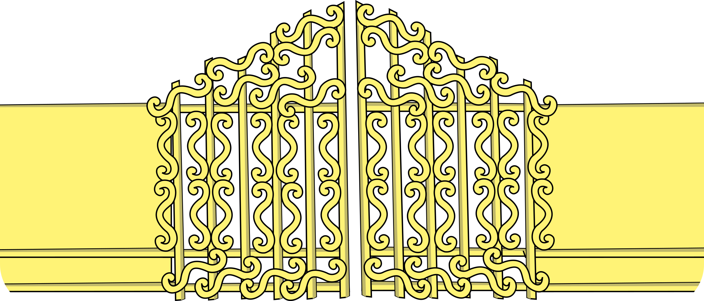 Pearly gates big image. Gate clipart iron gate