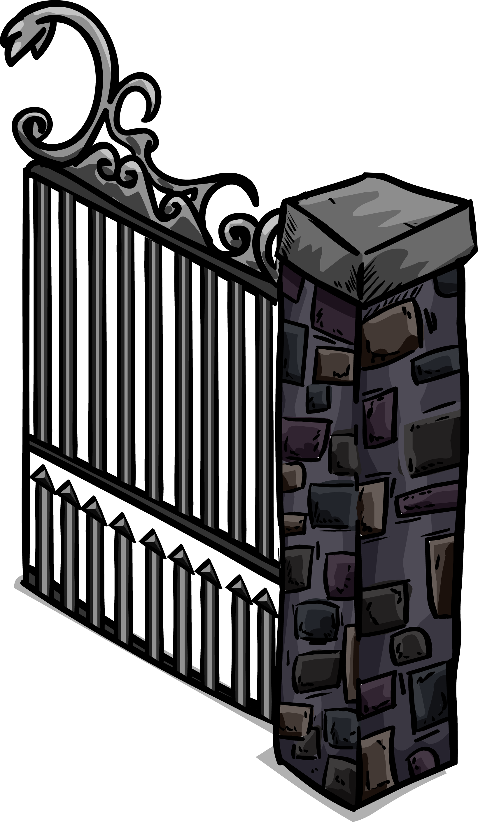 Gate clipart iron gate. Image sprite png club