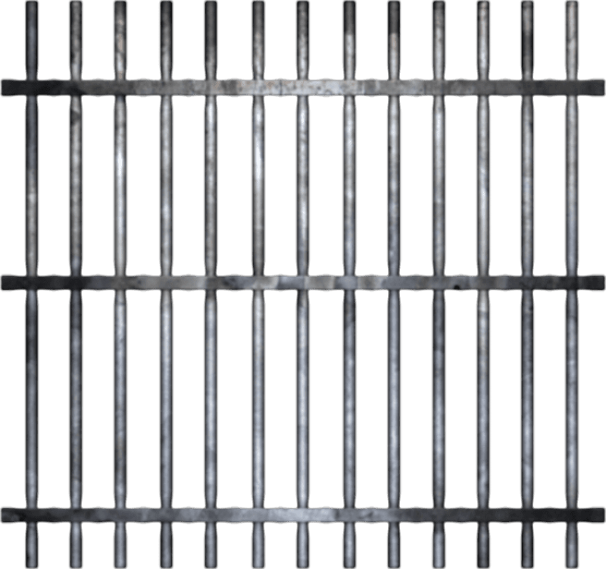 Gate clipart jail.  prison file huge