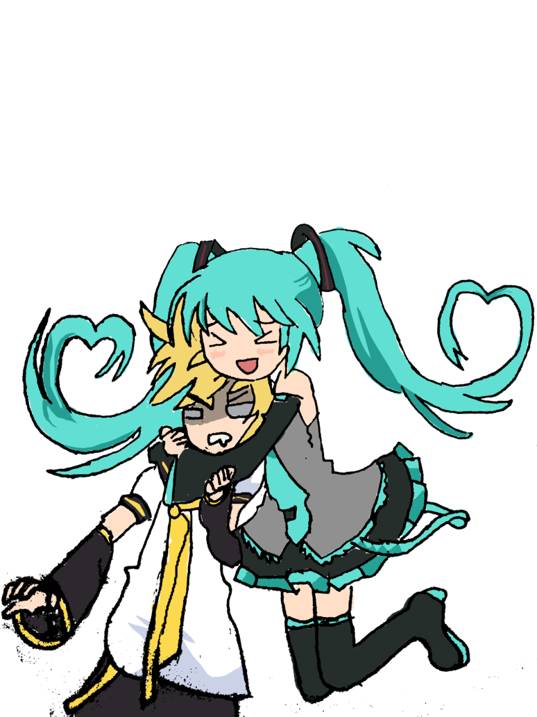 Miku and len by. Gate clipart kingdom heaven
