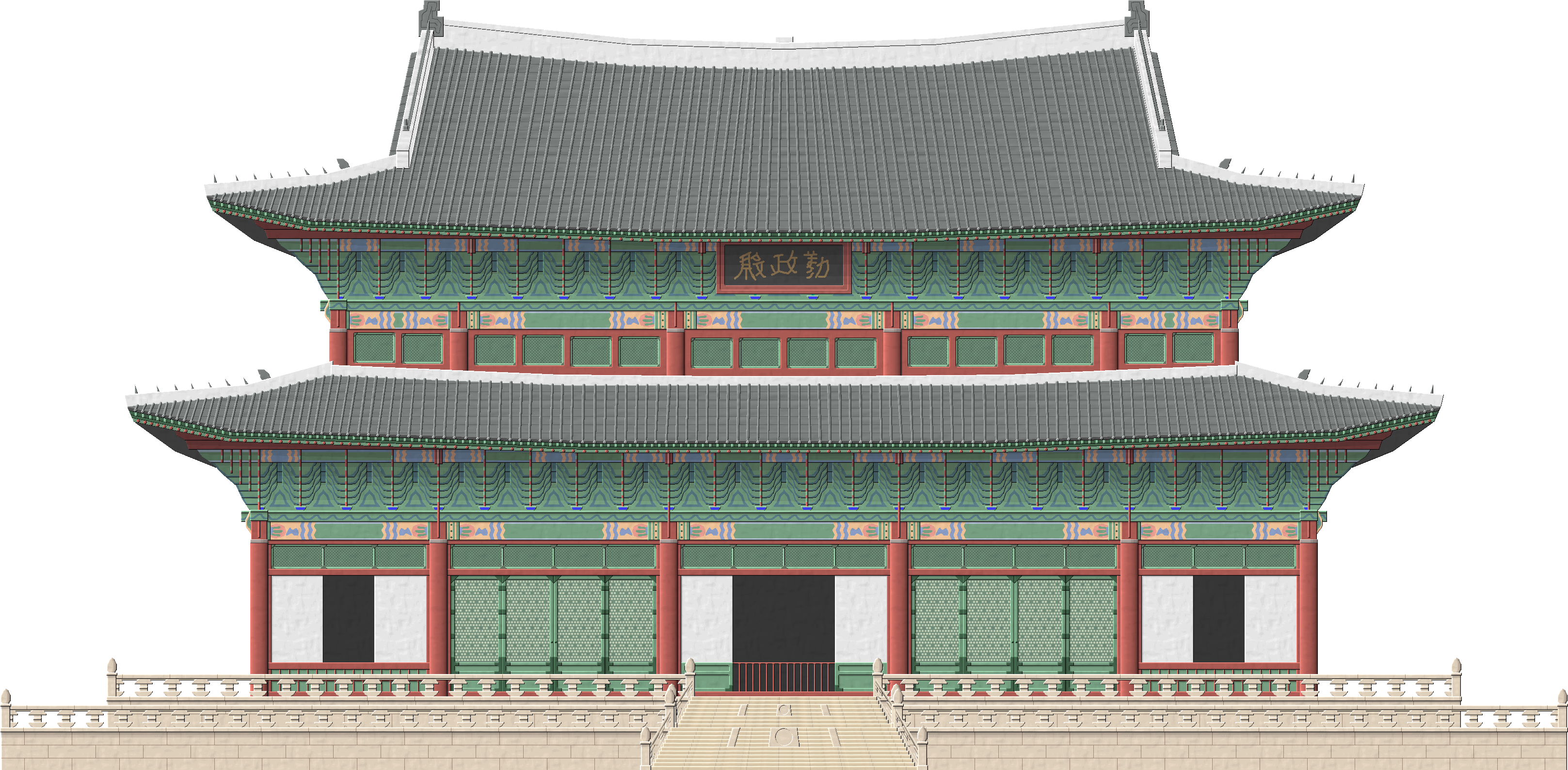 Palace clipart transparent. Changdeokgung by herbertrocha on