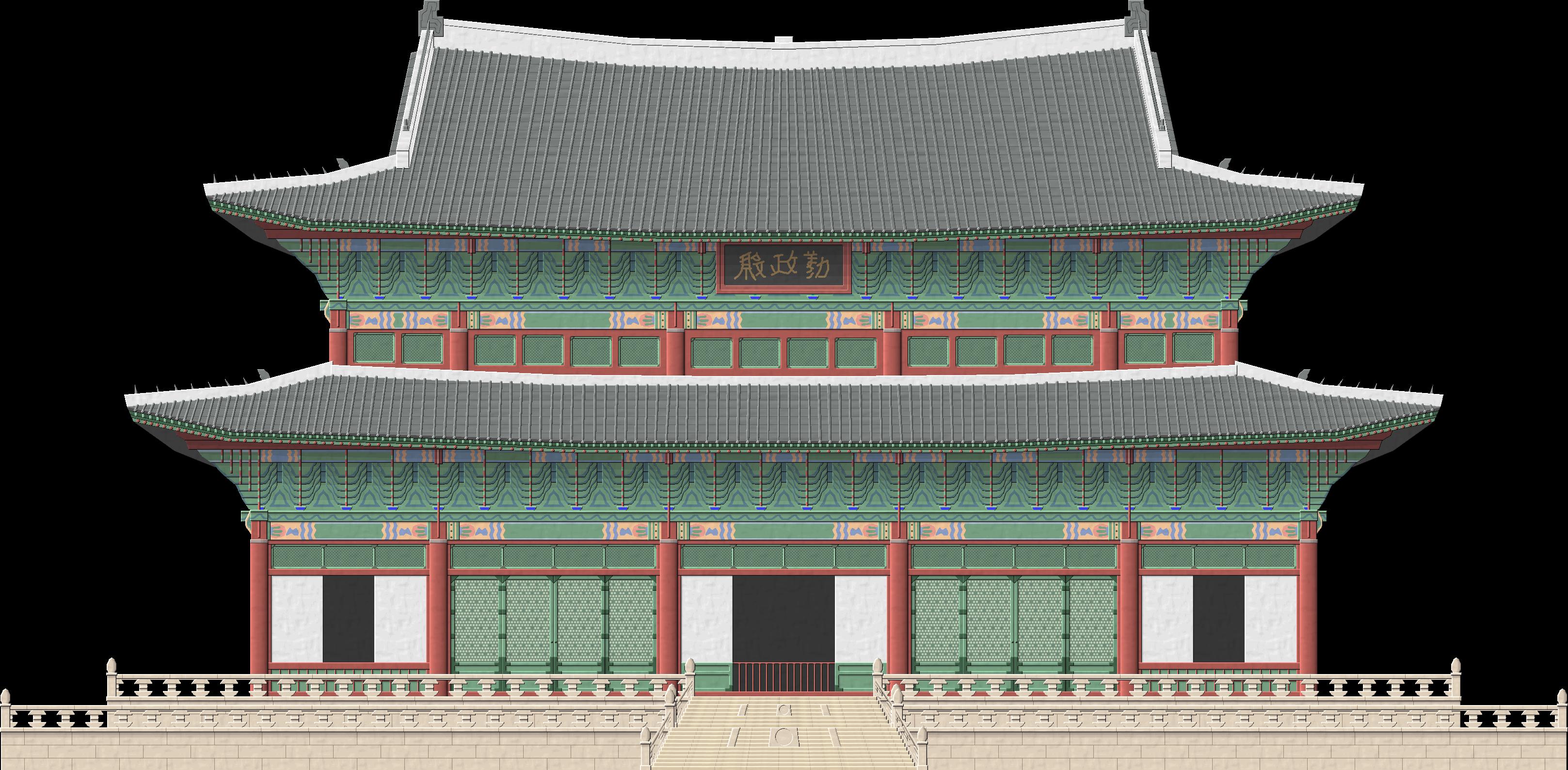 Gate clipart korean. Changdeokgung palace by herbertrocha