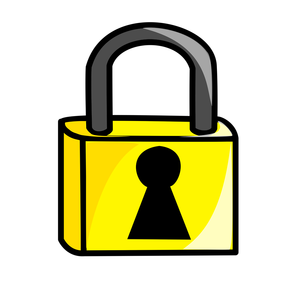 Gate clipart locked gate. Lock free stock photo