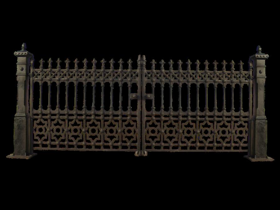 Gate clipart main gate. Iron railing fence clip