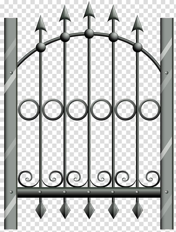Gate clipart matel. Metal fence wrought iron