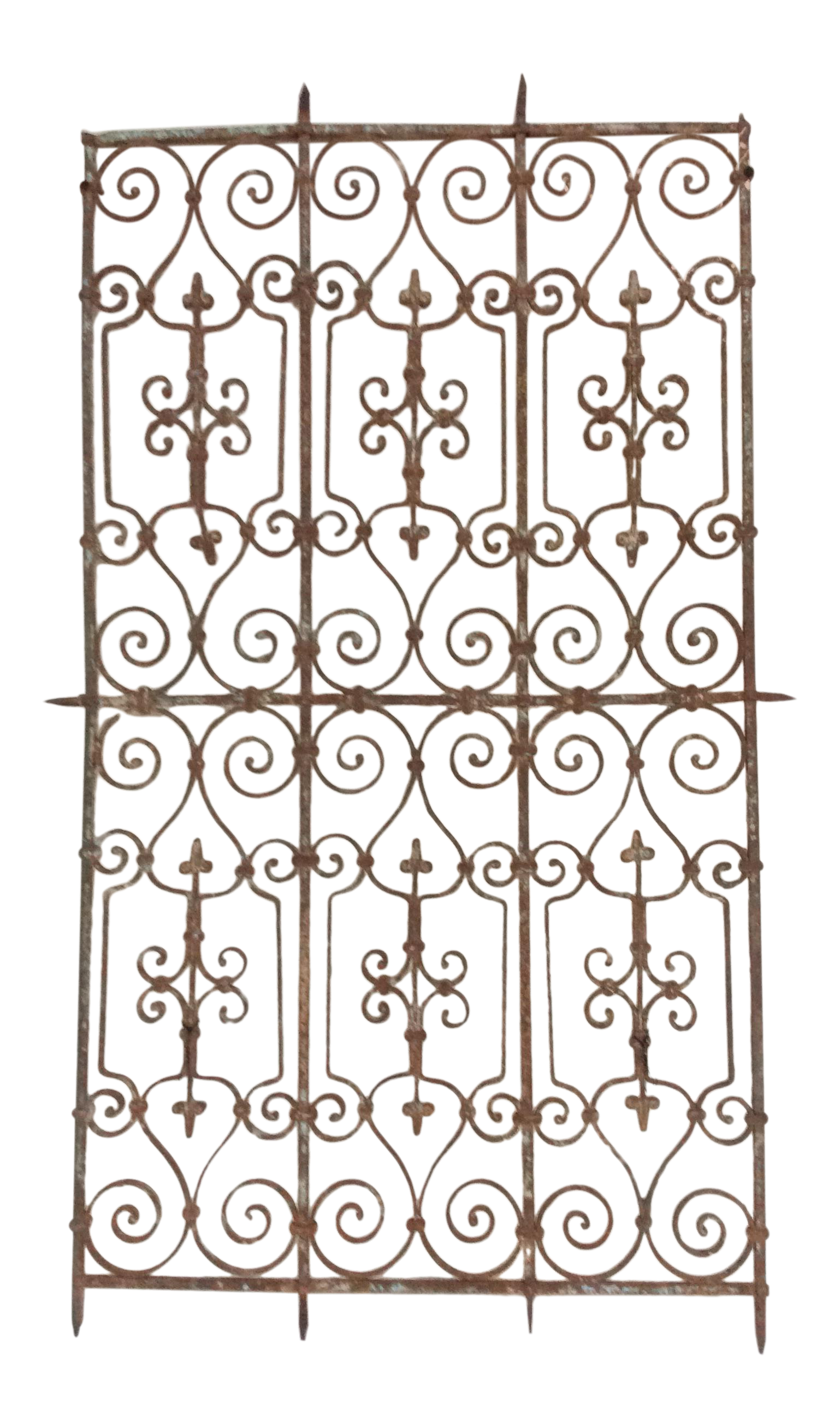 Gate clipart metal bar. Hand wrought iron panel