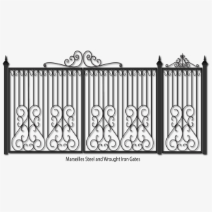 Gate clipart metal gate. Steel and fencing iron