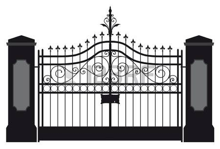 Gate clipart metal gate.  clipartlook