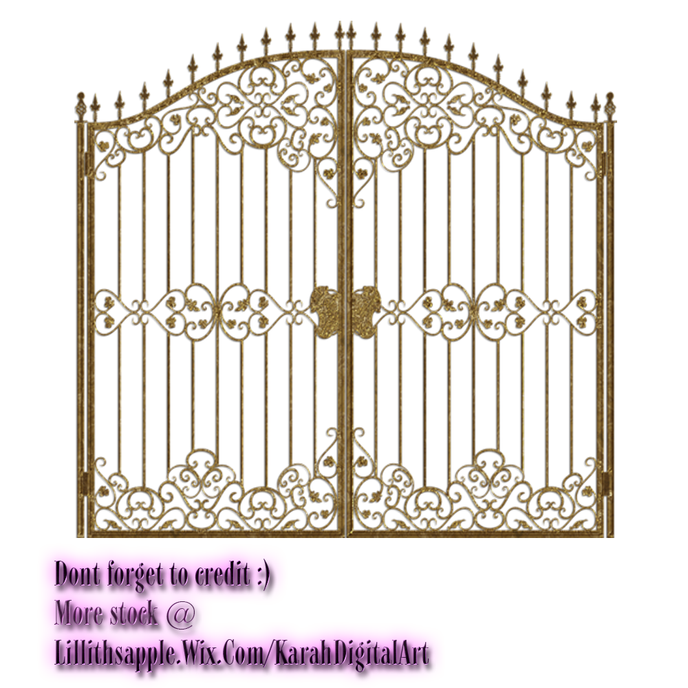 collection of png. Gate clipart metallic