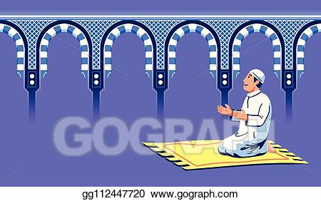 Eps vector male moslem. Mosque clipart gate