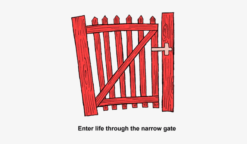 Gate clipart narrow gate. Free transparent png x