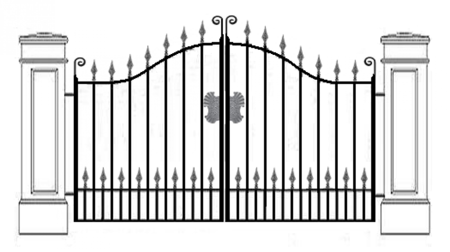 Gate clipart new home. Cartoon fence design product