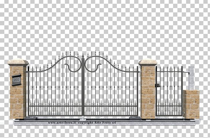 Sheet metal cutting house. Gate clipart new home