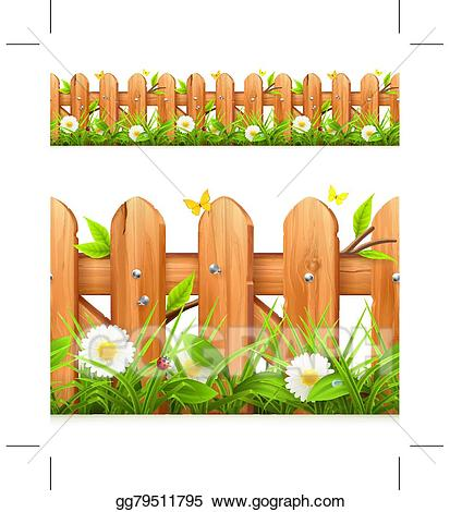 Gate clipart plant grass. Clip art vector and