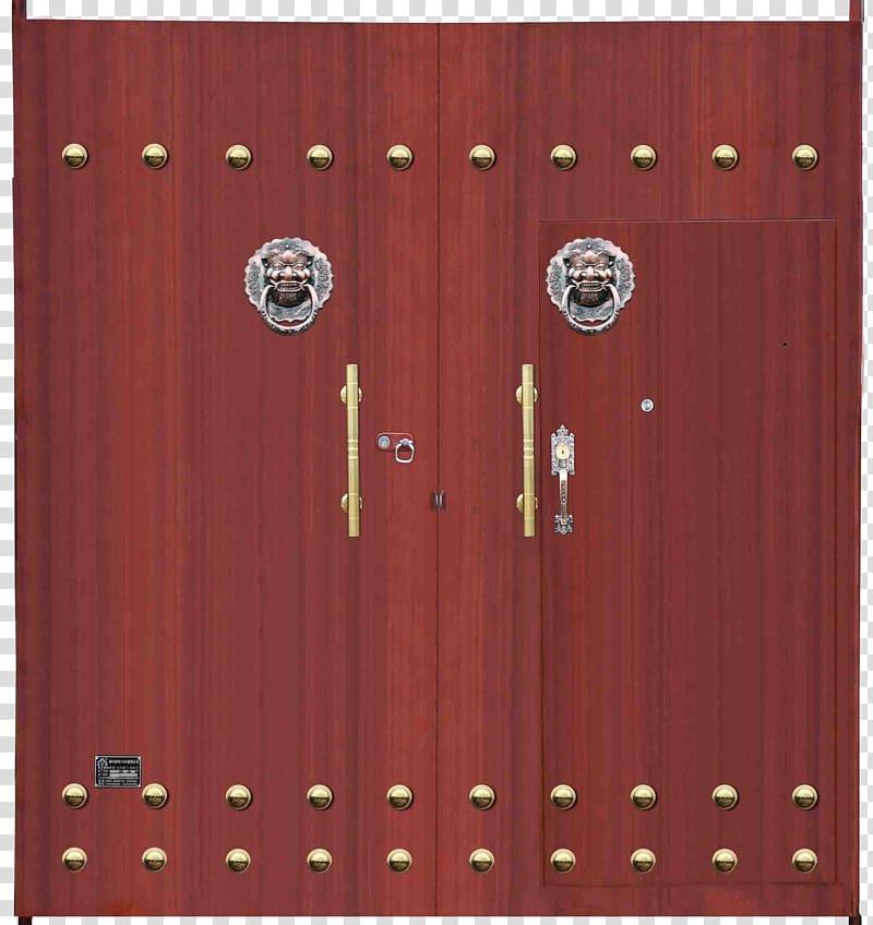 Gate clipart red metal. Wood door iron transparent