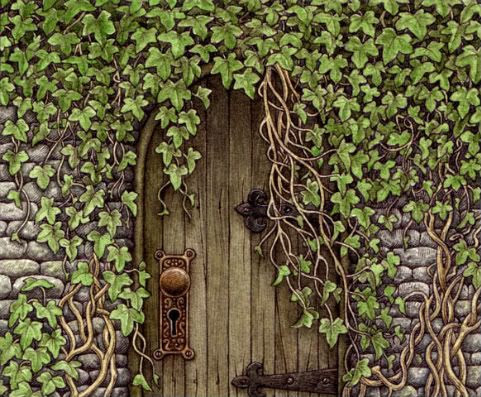 X free clip art. Gate clipart secret garden