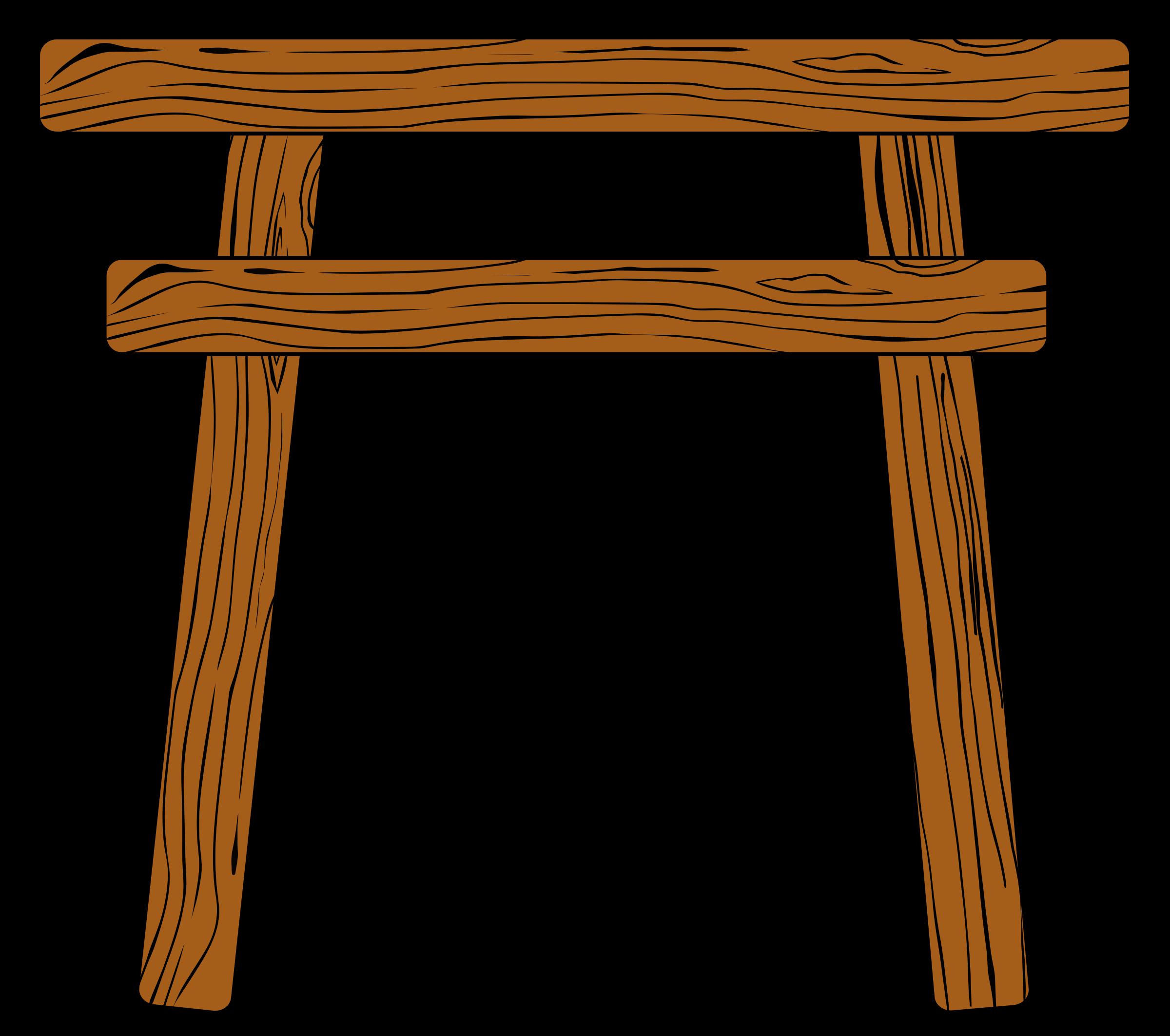 Wood torii big image. Gate clipart shinto