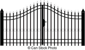 Vector panda free images. Gate clipart silhouette