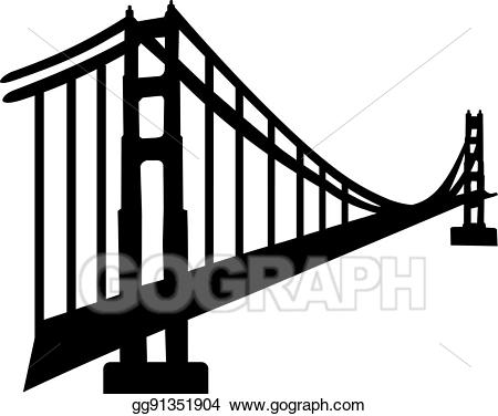 Gate clipart silhouette. Vector art of golden