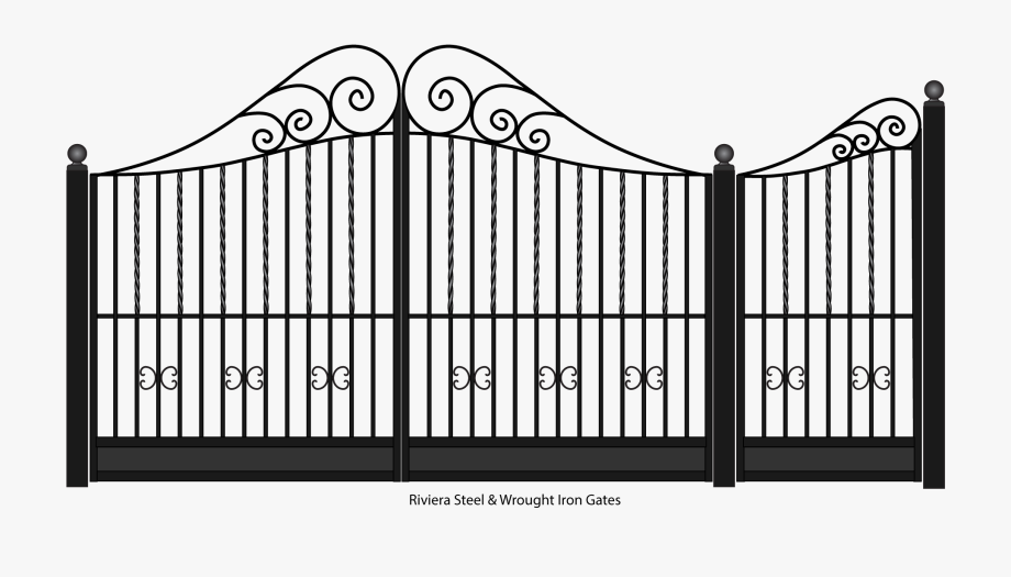 White garden png free. Gate clipart steel gate
