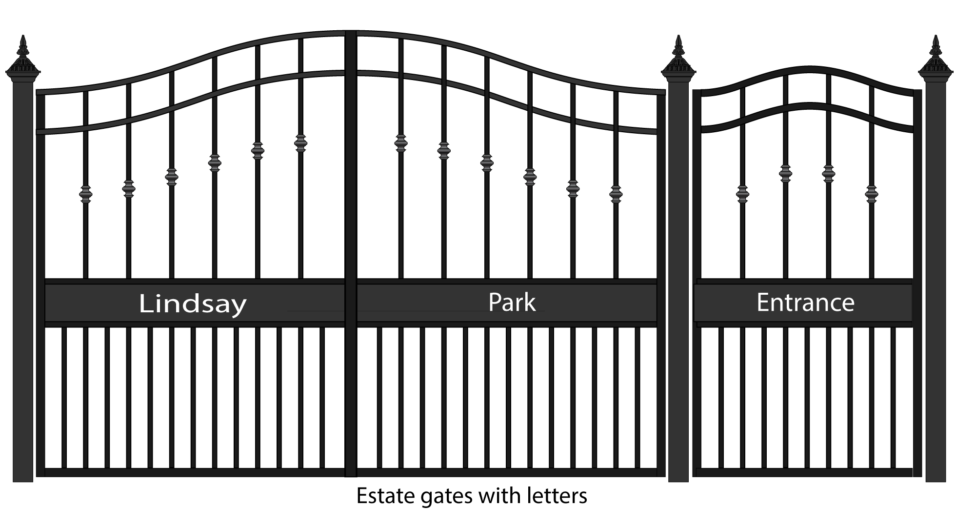Beautiful Entrance Gate Design For Home Sketch
