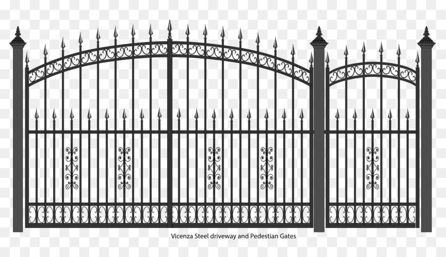 Gate clipart steel gate. Fence cartoon door metal