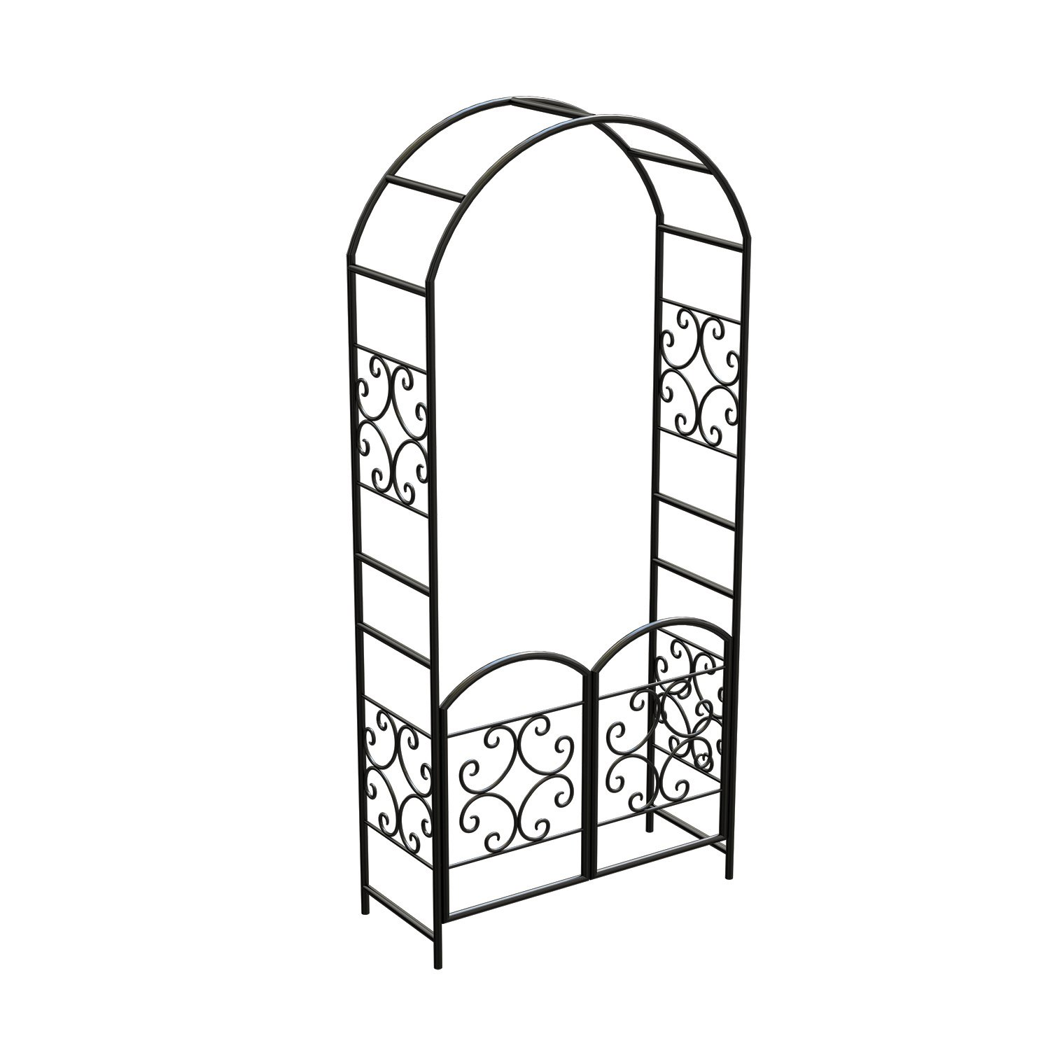 Gate clipart stell. Panacea scroll arbor with