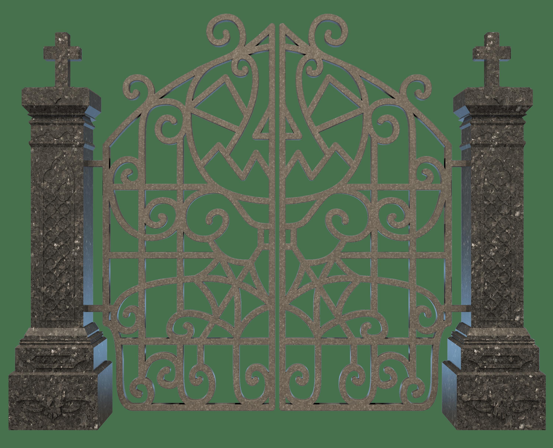 Gate clipart transparent background. Graveyard png stickpng download
