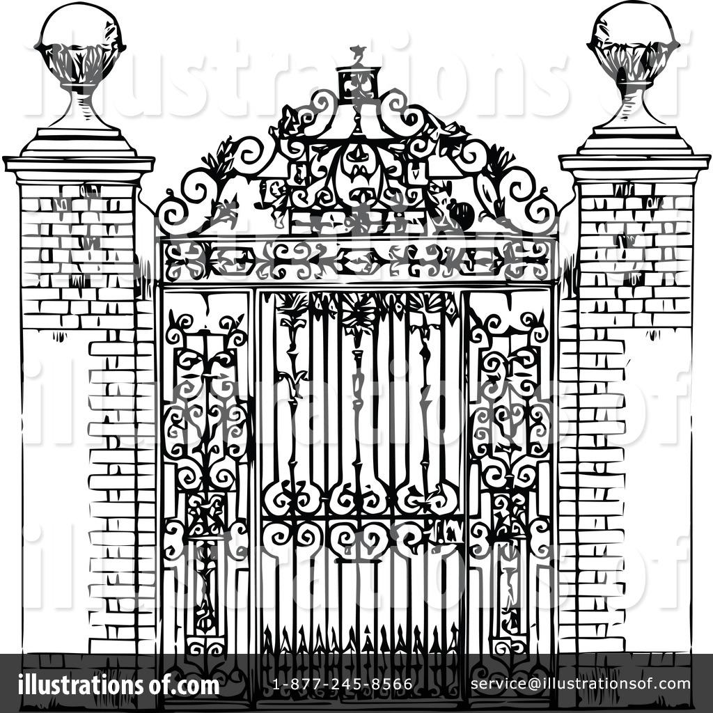 Illustration by prawny . Gate clipart vintage