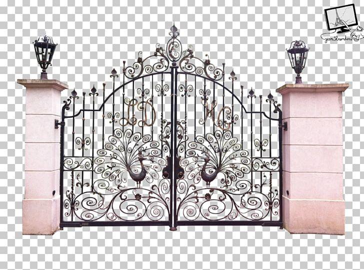 Fence wrought iron door. Gate clipart wallpaper