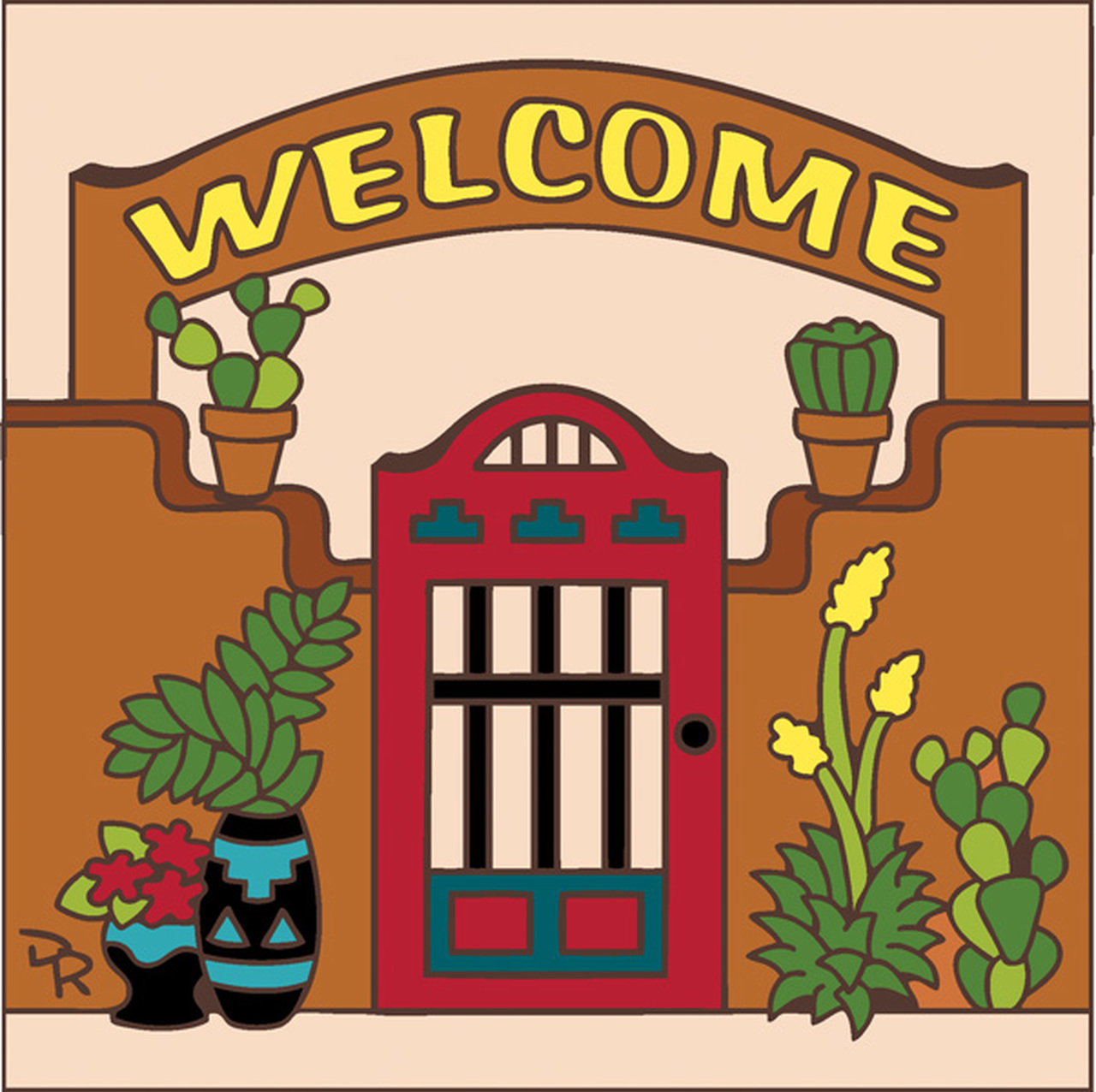 Gate clipart welcome gate.  x tile sand