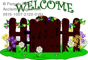 Clip art image of. Gate clipart welcome gate